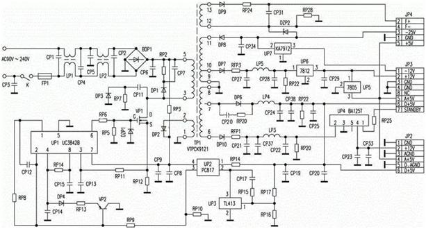 电源各种拓扑结果电路图实例
