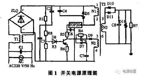 进入电源的高压交流电,先经滤波器滤波,再通过全桥整流电路,高压交流